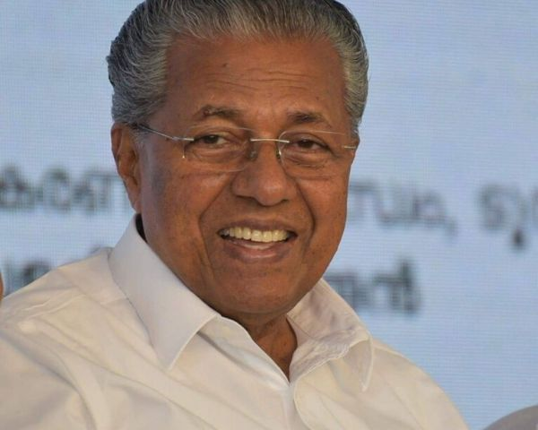 Close view of Pinarayi Vijayan, Kerala CM
