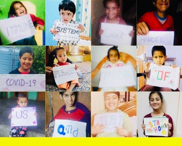 Images of the children at Aash