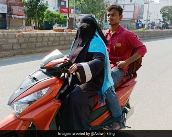 telangana woman rides scooter