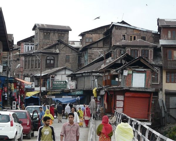 People walking on a street in Jammu & Kashmir
