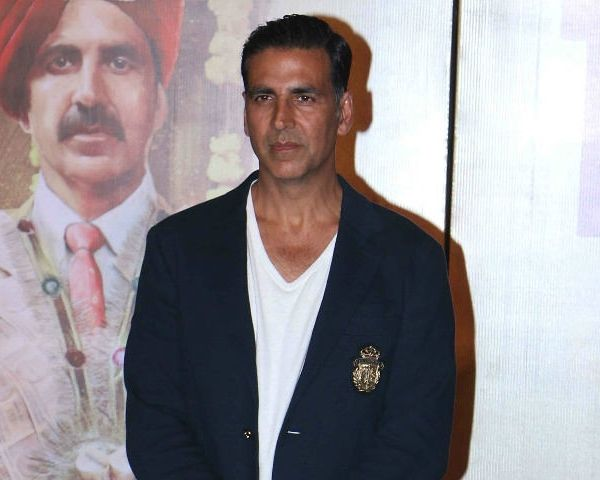 Akshay Kumar, Bollywood actor in a black jacket and white T shirt