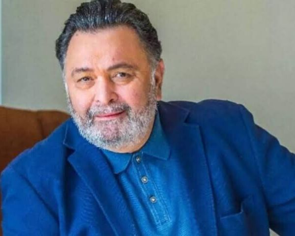 Rishi Kapoor in a blue suit