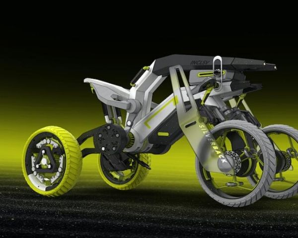 Adventure vehicle with one wheel in front and 2 in the rear