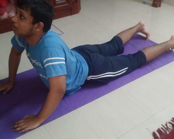 akshay harikumar autism boy doing yoga