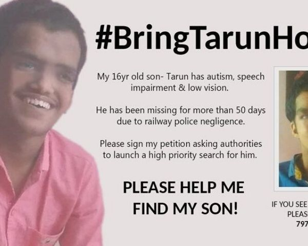 poster of missing tarun gupta