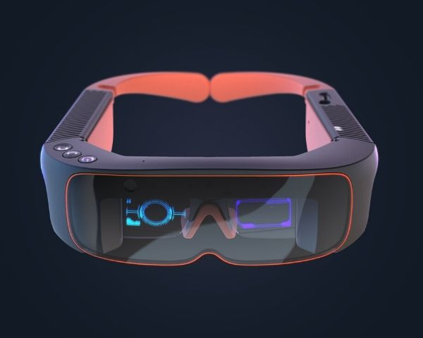 Pro Smart Glasses in black and neon orange colours