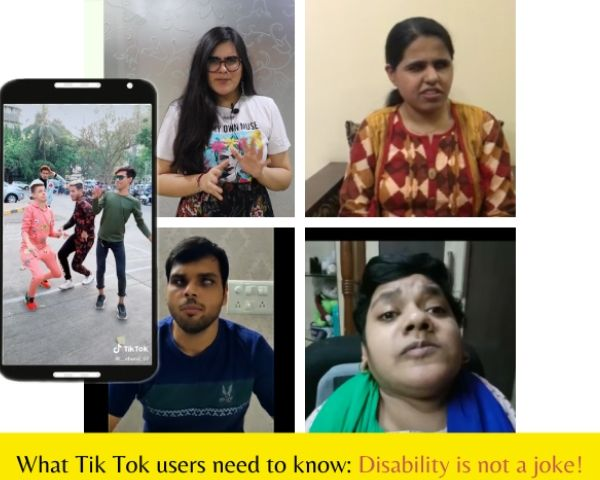 Images of 4 people taking part in the disability campaign