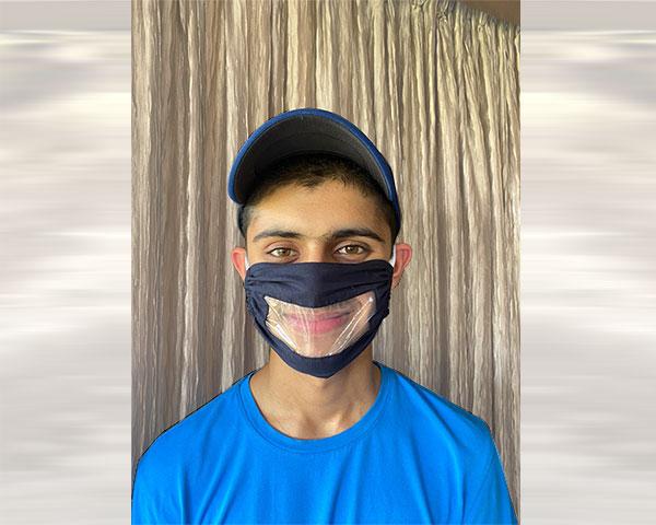 Arnav Shah wearing a Naqab mask.