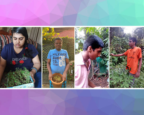 children with autism doing farming