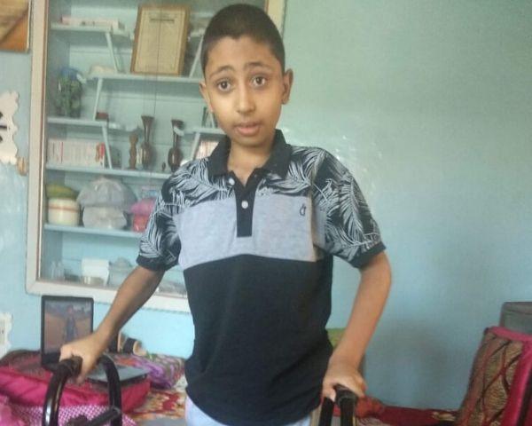 Ayaan Zaffar inside his home