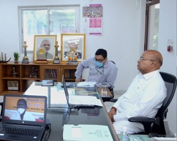 Union Minister for Social Justice & Empowerment T C Gehlot at the online launch of CRC