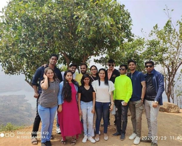 Alifiya Memon with office colleagues at Panchgani