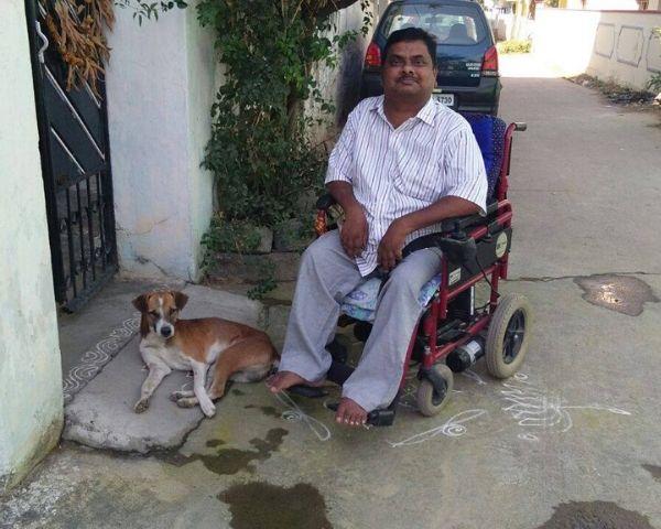 Narsing Rao Bongurala wearing a white shirt & grey pants