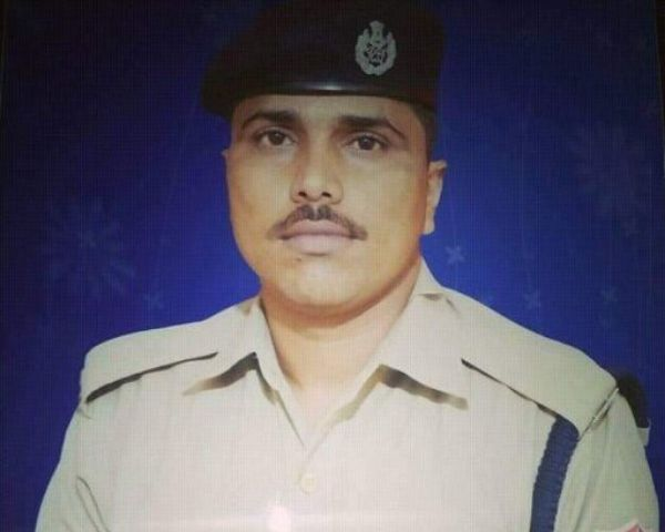 Close up of RPF constable Yadav