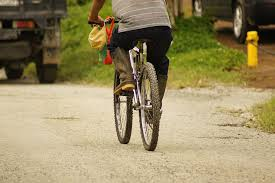 man on a cycle