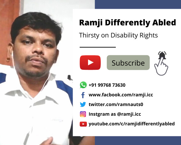 Ramji Differently Abled, YouTube Channel.