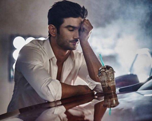sushant singh rajput wearing a white shirt