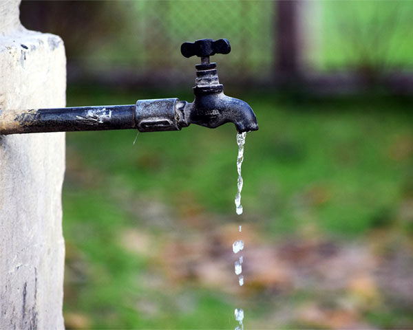 A running tap.