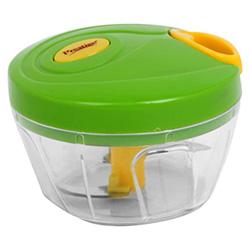 Green coloured Prestige 3.0 Plastic Veggie Cutter.