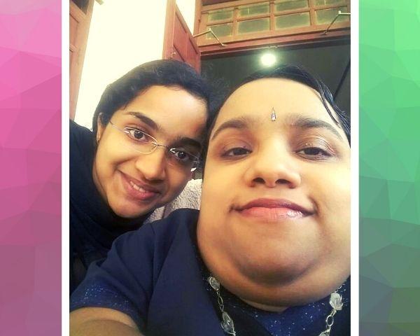 selfie of two girls