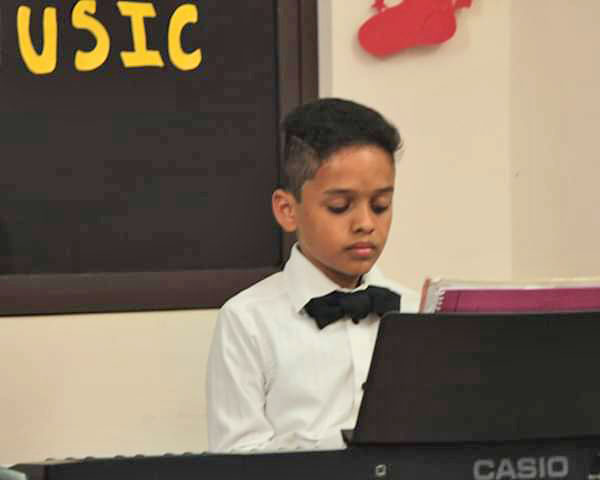 Sammy at his first recital.