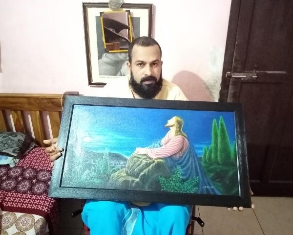santosh wheelchair artist