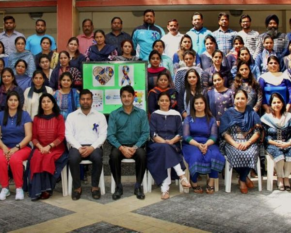 Group photo of teachers of Springdale Senior Secondary School