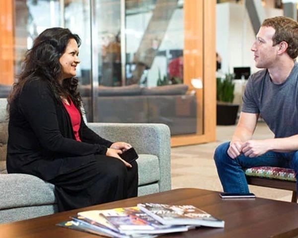 Facebook executive Ankhi Das taking to FB founder Mark Zuckerberg