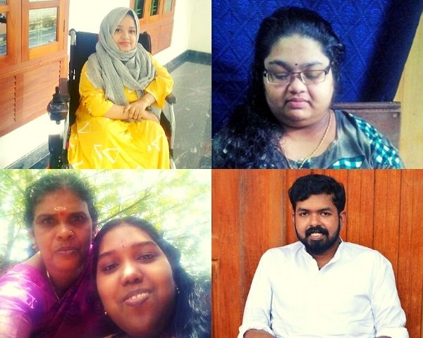 Images of Radhika, Shiny, Shibina and Archana