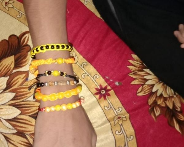 friendship bands made by ngo amrithavarshini