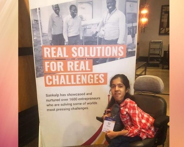 maitri shah on wheelchair