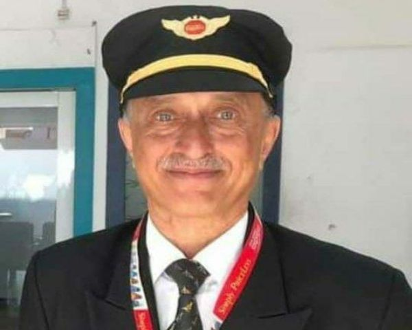 Close up of Air India pilot Deepak Sathe
