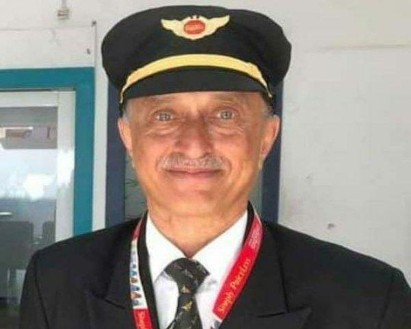 Close up of Air India pilot Deepak Sathe