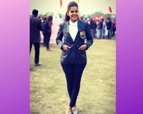 girl wearing blazers
