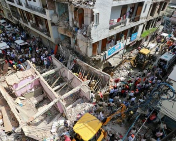 Image of collapsed building