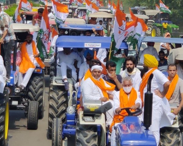 Farmers protesting in Punjab