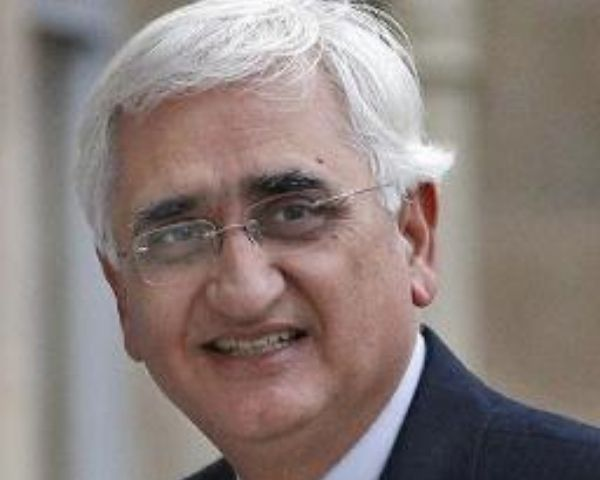 Close up of Salman Khurshid