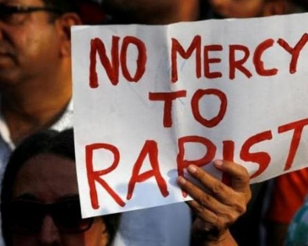 no mercy for rapist poster