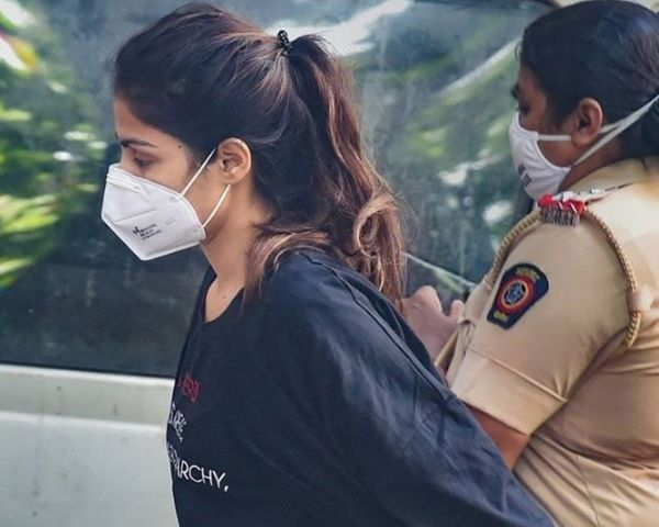 rhea chakraborty taken to jail