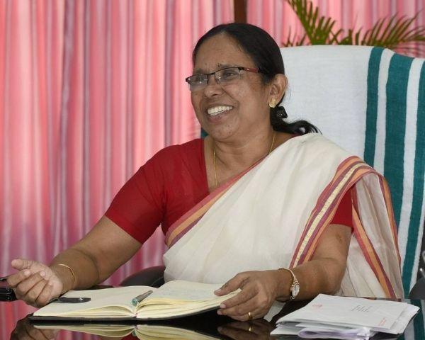 Image of kk shailaja health minister kerala