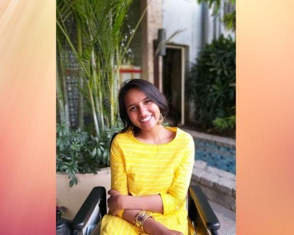 girl sitting on a wheelchair