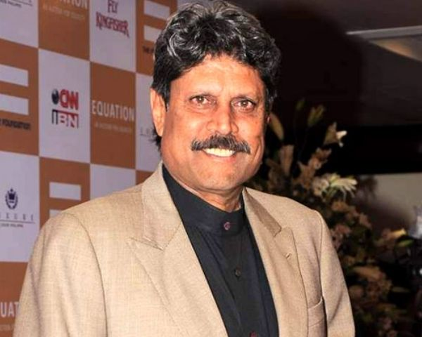 Close up of Kapil Dev