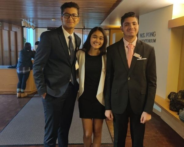 Ananya Jain, Mudit Surana and Krish Uttamchandani at Harvard University