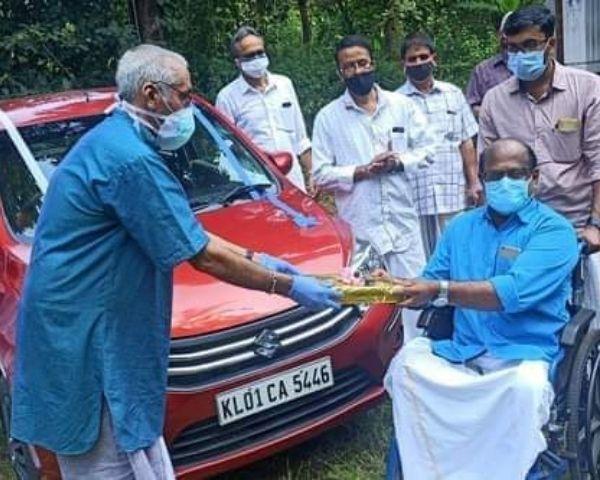 wheelchair user getting car