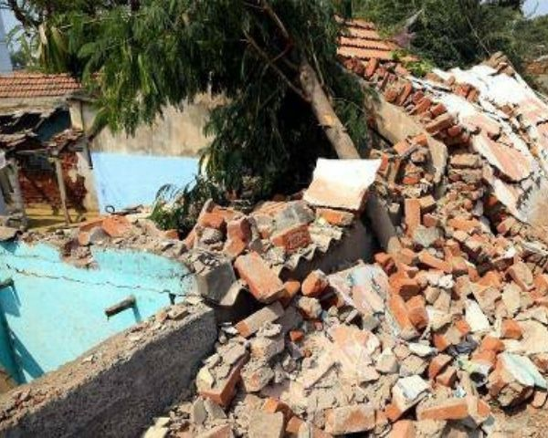Image of collapsed wall