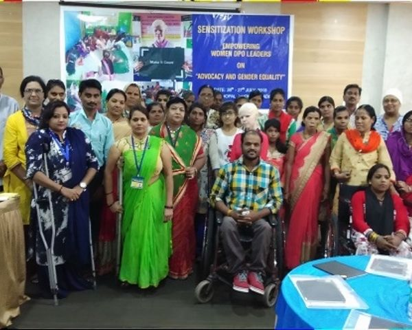 Disabled women at a training programme in Madhya Pradesh