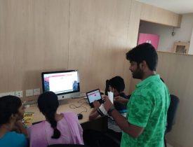 manu sekar with students