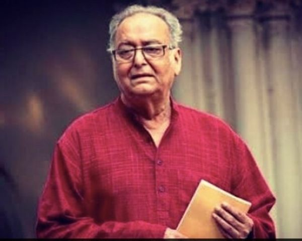 Close up of Soumitra Chatterjee