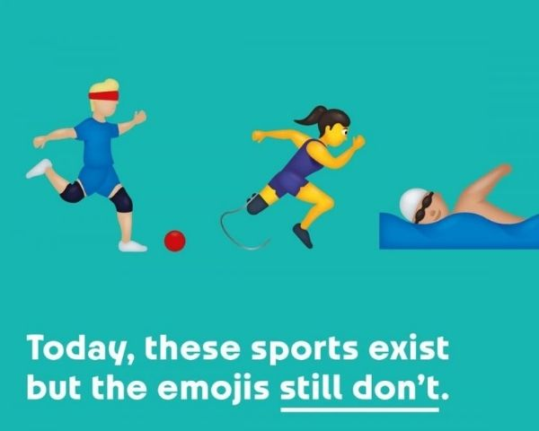 Campaign poster of the Paralympic emoji launch