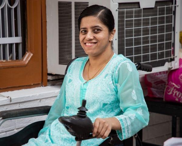 Image of anjali gulati sitting on chair